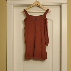 Torrid - Rust Red Cold Shoulder Sweater 1X